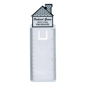 Bookmark Magnifier 5 In - 13 Cm Ruler (house Shape)