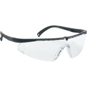 Clear Lens - Black - Single-piece Lens Safety Glasses
