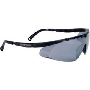 Gray Lens - Black - Single-piece Lens Safety Glasses