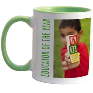 Light Green - Match Full-color, Full-wrap Decoration To This 11 Oz Colored Inside And Handle Mug!