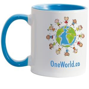Light Blue - Match Full-color, Full-wrap Decoration To This 11 Oz Colored Inside And Handle Mug!