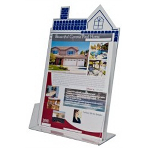 """Roof Top Acrylic brochure holder for 8.5\""""W Literature"""