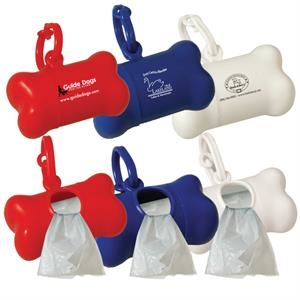 Pet Waste Bag Dispenser With 10 White Waste Bags