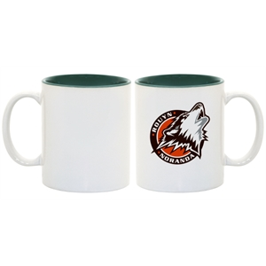 Green - This Two-tone Accented Mug Enhances Full-color Sublimation Decoration Beautifully!