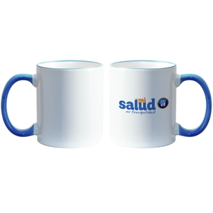 Light Blue - Match Images And Themes To This Sublimation Rim And Handle Colored Ceramic Mug!