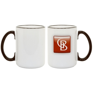Black - Accent Your Full-color Image Or Logo With This 15 Oz. Colored Photo Mug!