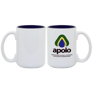 Blue - Enhance Your Imprinted Images And Logos With This 15 Oz Colored Photo Mug!