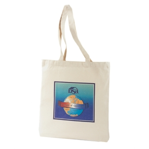 "Cotton Canvas Tote Bag With 26"" Shoulder Straps"