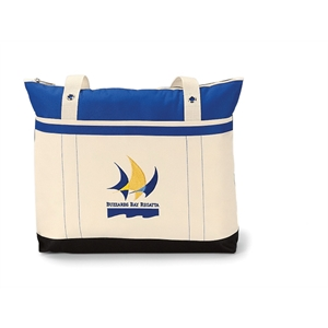 "Windjammer - Royal Blue - Tote Bag With Colorful Nautical Design And 28"" Shoulder Straps"