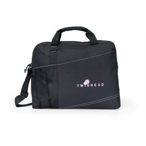 Velocity - Black - Portfolio With Adjustable Shoulder Strap And Top Grab Handles