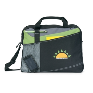 Velocity - Apple Green - Portfolio With Adjustable Shoulder Strap And Top Grab Handles