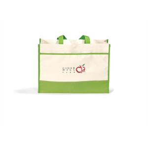 Contemporary - Apple Green - Tote Bag With Large Main Compartment With Snap Closure