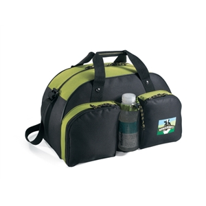 Green Apple - Water Bottle Sport Bag With Colorful Contrast Accent