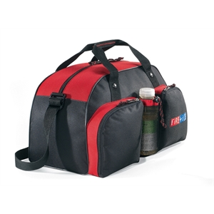 Red - Water Bottle Sport Bag With Colorful Contrast Accent