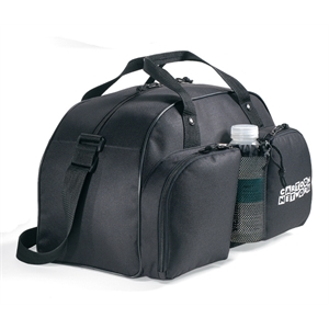 Black - Water Bottle Sport Bag With Colorful Contrast Accent