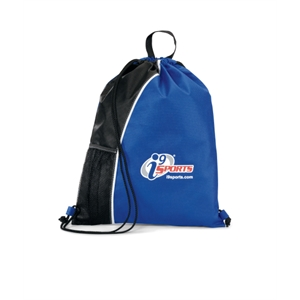 Crescent - Royal Blue-black - Non-woven Sport Pack With Top Grab Handle