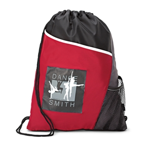 Surge - Red - Sport Cinchpack With Side Mesh Pocket