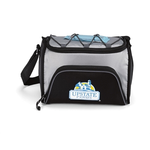 Silver - Six-pack Cooler With Heat Sealed Interior And Adjustable Shoulder Strap