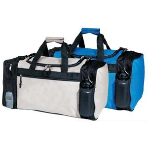 "Travel Bag, 22"" Long, With Double Zippered Main Compartment And U-shaped Top Lid"