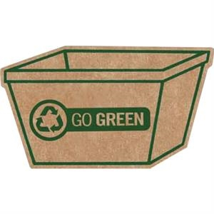 Brown Corrugated Cardboard Recycle Bin Shaped Magnet With Full Magnetic Backing