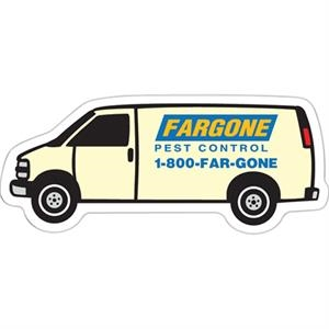 Flat Flexible Transportation Themed Stock Van Shaped Magnet