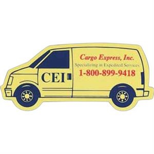 Flat Flexible Transportation Themed Stock Cargo Van Shaped Magnet