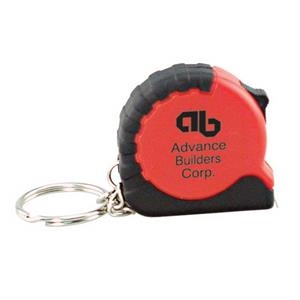 3ft Tape Measure With Black Rubber Grip And Key Ring