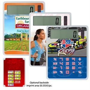 "U-design - 3 Working Days - Solar Powered Calculator, 2 3/4"" X 3 3/4"" With Battery Backup"