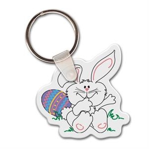 "Easter Bunny Shape Key Tag, 1.85"" X 1.86"""