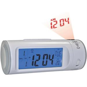 Digital Alarm Clock With El Light And Projector