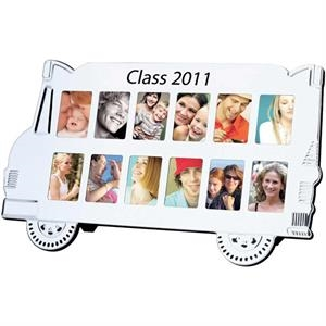 Aluminum Metal School Bus Photo Frame