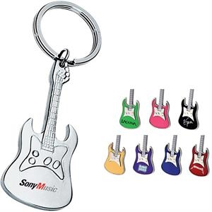 Metal Guitar Shaped Keychain