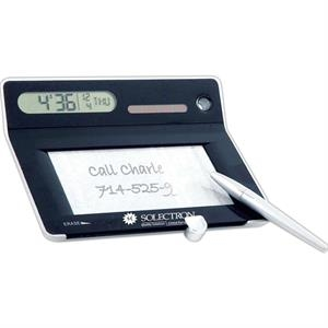 Solar Alarm Clock With Erasable Memo Board