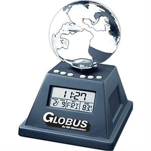 Solar Powered Moving Globe With Alarm Clock