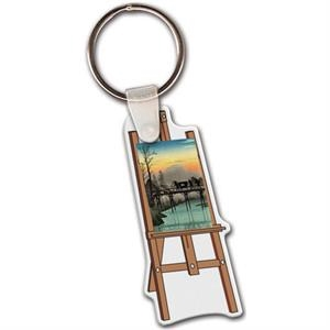 "Easel Shape Key Tag, 1.28"" X 2.35"""