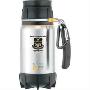 Element 5 (r) - Leak-proof Travel Mug With Comfortable Rubberized Stainless Steel Handle
