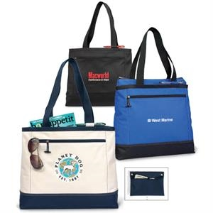 Royal Blue - Utility Tote Bag With Interior Removable Storage Pocket