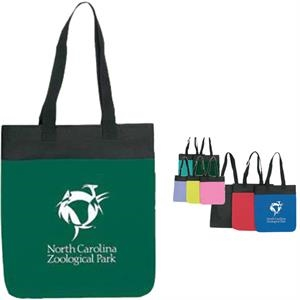 "Embroidery - Economy Polyester Tote Bag With Vinyl Backing And 24"" Webbed Handles"