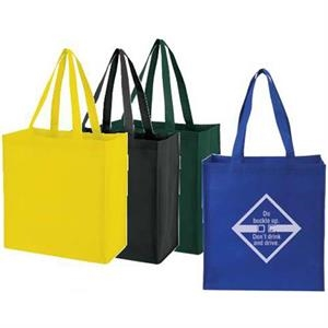 "Embroidery - Medium Non-woven Tote Bag With 25"" Handles"
