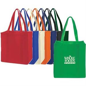 "Extra-wide Non-woven Tote Bag With Bottom Stiffener, 22"" Handles"