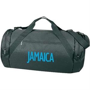 Embroidery - Polyester Large Roll Bag With Zippered Front Pocket And Carrying Handles
