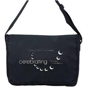 Embroidery - Polyester Messenger Bag With Velcro (r) Closure And Adjustable Shoulder Strap