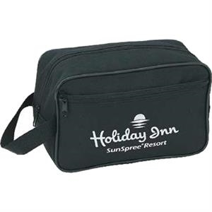 Silkscreen - Travel Kit With Vinyl Backing, Zippered Main Compartment And Front Pocket