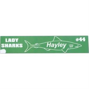 "2"" X 10"" - Colored Acrylic Name Plate"
