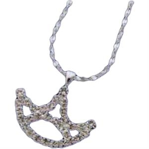 Necklace With A Rhinestone Crown Shape Pendant On Chain
