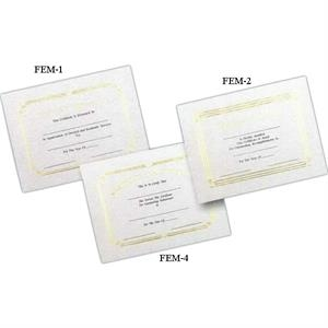 "Achievement - Stock Certificate With Foil Embossed Border And Heading, 8 1/2"" X 11"