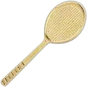Tennis Racquet - Stock Design Award Pin With Clutch Back Attachment For Secure Mounting