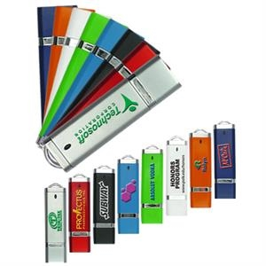 "Galaxydrive - 2gb - Led Indicator Light Usb Flash Drive, 2.9"" L X 0.78"" W X 0.28"" H"