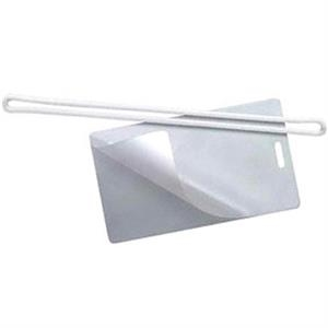 Two Part Clear Laminate Luggage Tag Requires Laminator, Blank