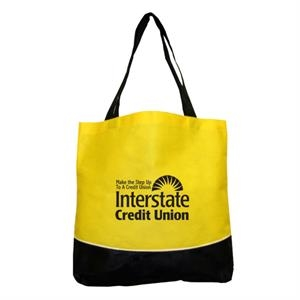 Encore - Two Tone Design Tote Bag With Zipper